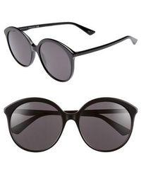 Gucci - 59mm Round Sunglasses - - Lyst