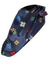 Tory Burch - Alphabet Print Silk Headband - Lyst