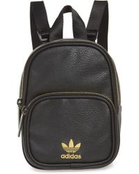adidas - Originals Mini Faux Leather Backpack - Lyst