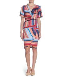 Catherine Malandrino - Nyla Twist Front Sheath Dress - Lyst