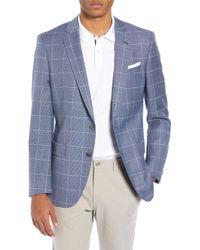 4c2dc9cb5 Lyst - BOSS 'hutsons'   Slim Fit, Italian Virgin Wool Sport Coat in ...