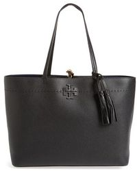 Tory Burch - Mcgraw Leather Laptop Tote - - Lyst