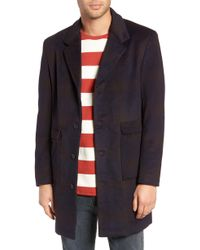 Native Youth - Ombre Plaid Overcoat - Lyst