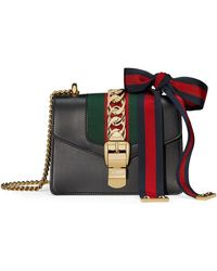 47a321338d9 Lyst - Gucci Sylvie Leather Mini Chain Bag in Gray