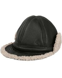 4035323ffa2 Maison Michel - Leather Trapper Hat With Faux Shearling Lining - - Lyst