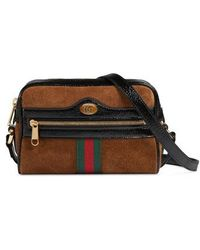 Gucci - Ophidia Small Suede & Leather Crossbody Bag - Lyst