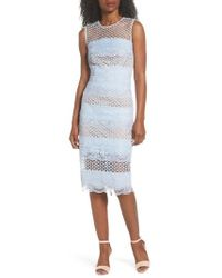 Bronx and Banco | Sienna Lace Panel Sheath Dress | Lyst