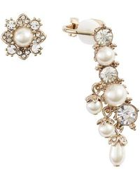 Marchesa - Ear Crawler & Stud Mismatched Earrings - Lyst