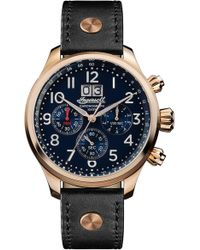 INGERSOLL WATCHES - Ingersoll Delta Chronograph Leather Strap Watch - Lyst