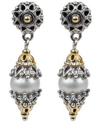Konstantino - Classics Dangle Drop Pearl Earrings - Lyst