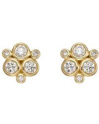 Temple St. Clair | Temple St. Clair Diamond Stud Earrings | Lyst