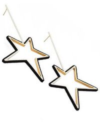 Mishky - Large Beaded Star Earrings - Lyst