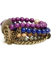 THE LACE PROJECT - Set Of 4 Bead Stretch Bracelets - Lyst
