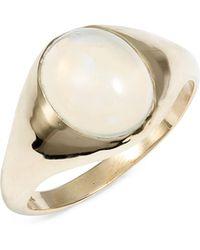 Loren Stewart - Large Opal Signet Ring - Lyst