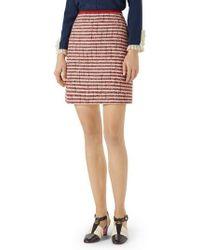 Gucci | Stripe Tweed A-line Skirt | Lyst