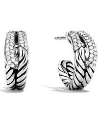David Yurman - 'labyrinth' Single Loop Earrings With Diamonds - Lyst