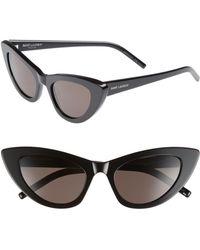 826b041729 Saint Laurent - Lily 52mm Cat Eye Sunglasses - - Lyst