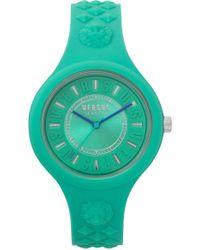 Versus - Fire Island Green Silicone Strap Watch - Lyst