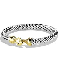 David Yurman - 'cable Buckle' Bracelet With Gold - Lyst