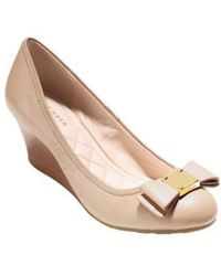 Cole Haan - 'tali Grand' Bow Wedge Pump - Lyst