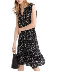 J.Crew | J.crew Daisy Floral Cap Sleeve Midi Dress | Lyst