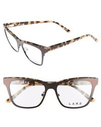 L.A.M.B. - 51mm Optical Cat Eye Glasses - Lyst