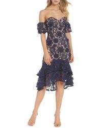 Jarlo - Merrilee Off The Shoulder 3d Lace Dress - Lyst