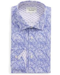 Ted Baker - Messera Trim Fit Print Dress Shirt - Lyst