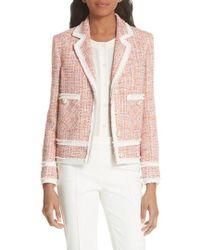 Helene Berman - Boxy Tweed Jacket - Lyst