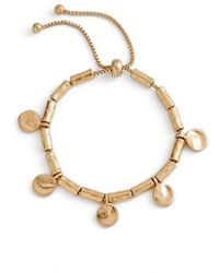 Treasure & Bond - Organic Summer Metals Sliding Disc Bracelet - Lyst