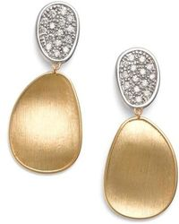 Marco Bicego - Lunaria Diamond Drop Earrings - Lyst