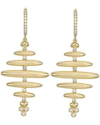 Temple St. Clair - Temple St. Clair Earthly 18k Gold & Diamond Honeycomb Drop Earrings - Lyst