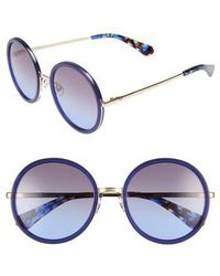 Kate Spade - Lamonica 54mm Gradient Lens Round Sunglasses - - Lyst