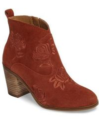Lucky Brand - Pexton Embroidered Bootie - Lyst