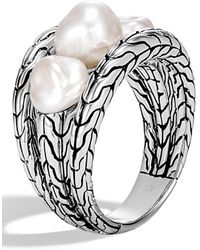 John Hardy - Classic Chain Pearl Ring - Lyst