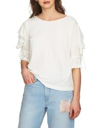 1.STATE - Ruffle Tie Sleeve Blouse - Lyst