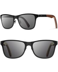 Shwood - 'canby' 54mm Titanium & Wood Sunglasses - Lyst