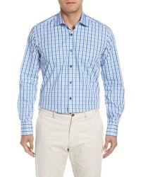 Ike Behar - Regular Fit Check Dress Shirt - Lyst