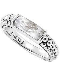 Lagos - 'maya' Stackable Caviar Ring - Lyst