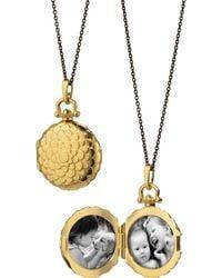 Monica Rich Kosann - 18k Petite Scallop Locket Necklace - Lyst
