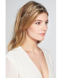 Brides & Hairpins - 'gia' Double Banded Halo Headpiece - Lyst