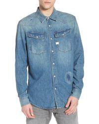G-Star RAW - 3301 Graft Denim Shirt - Lyst