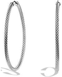 David Yurman - 'cable Classics' Extra-large Hoop Earrings - Lyst