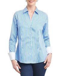 Foxcroft - Lauren Sateen Stripe Shirt - Lyst
