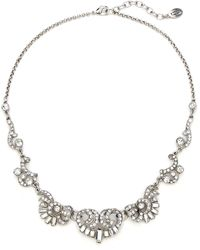 Ben-Amun - Deco Crystal Silver Necklace - Lyst