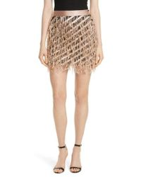MILLY - Fil Coupe Diagonal Stripe Miniskirt - Lyst