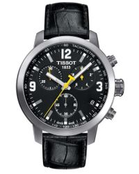 Tissot - Prc200 Chronograph Leather Strap Watch - Lyst