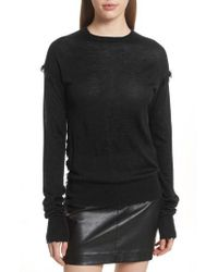 Helmut Lang - Frayed Cashmere Sweater - Lyst