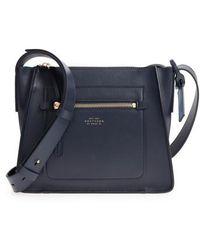 Smythson - Bond Leather Crossbody Bag - Lyst