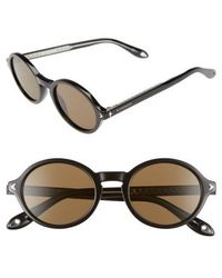 Givenchy - 50mm Round Sunglasses - Lyst